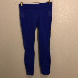 Athleta blue leggings- with ventilations